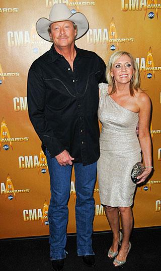 Alan Jackson s ženou Denisou