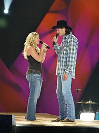 Miranda a Blake v pořadu CMT's 100 Greatest Country Duets - jejich první setkání