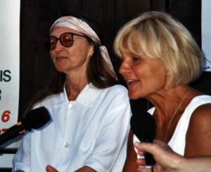 V roce 2000 v Hošticích na tiskovce s Martou Novotnou - Tuènou