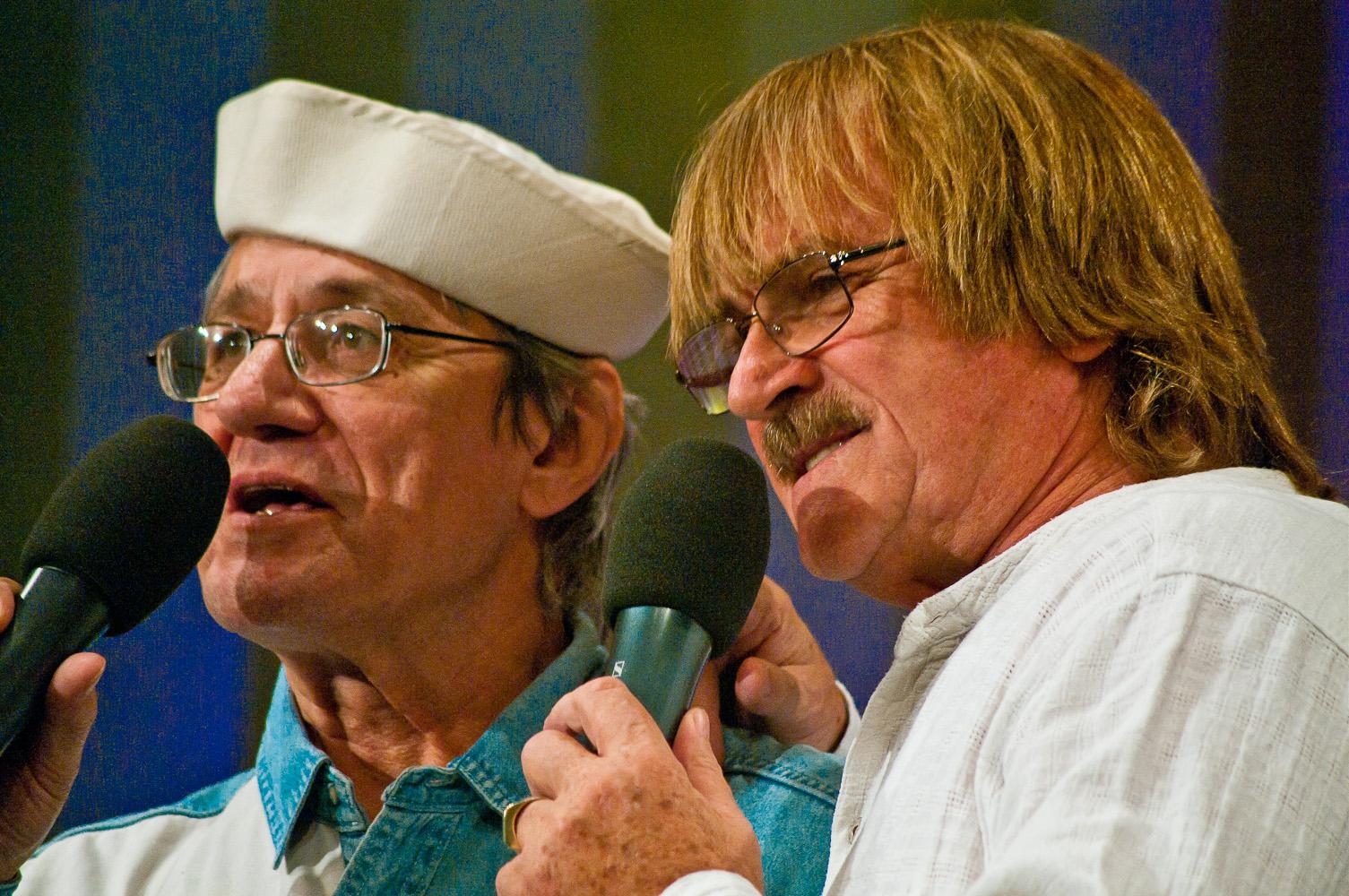 Honza Vyčítal a Karel Vágner, koncert Honzy Vyčítala a skupiny Greenhorns, Praha, Divadlo ABC 21.10.2012 (Foto: Jiří Konc / CountryWorld.cz)