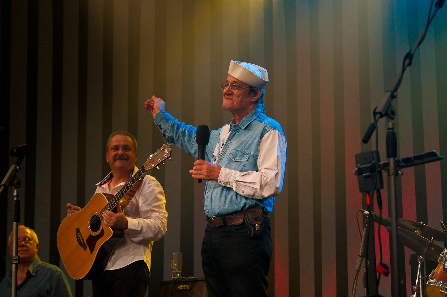 Honza Vyčítal a Medard Konopík, koncert Honzy Vyčítala a skupiny Greenhorns, Praha, Divadlo ABC 21.10.2012 (Foto: Jiří Konc / CountryWorld.cz)