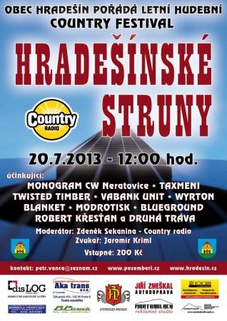 Hradešínské struny 2013 - plakát