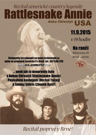 Rattlesnake Annie v Brně - plakát